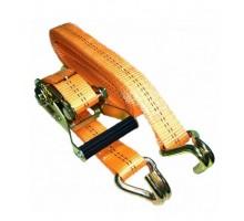 Стяжной ремень с крюками 35мм   3т   6м (оранжевый)