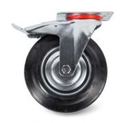 Колесо поворотное тормоз рез. SCb 63 160мм