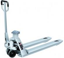 Тележка гидравлическая с весами XILIN BFC6-7S г/п 2000 кг нержавеющая сталь (нейлоновые колеса)